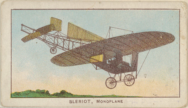 Bleriot, Monoplane, from the Airships series (E40) issued by the Philadelphia Caramel Company