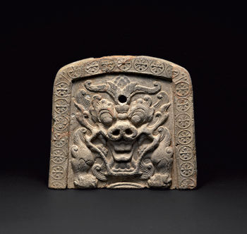 Roof Tile with Bestial Face