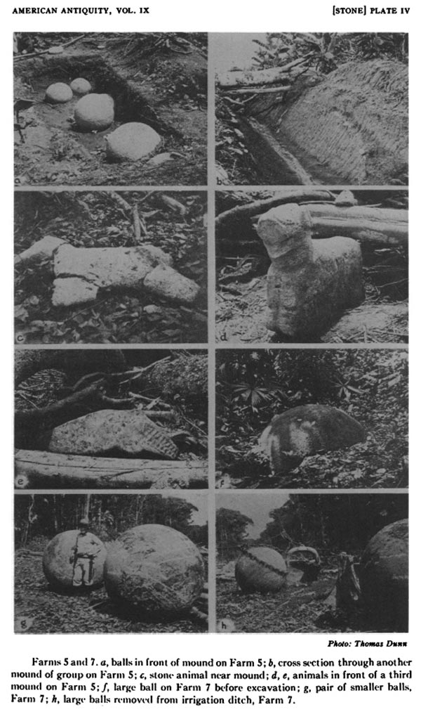 "[Stone] Plate IV, from Doris Z. Stone's ""A Preliminary Investigation of the Flood Plain of the Rio Grande de Térraba, Costa Rica."" American Antiquity, Vol. 9, No. 1 (July 1943)"