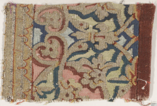Tapestry fragment, 16th century.