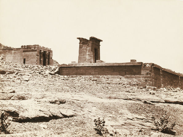 The Temple of Dendur in situ. Photographed by Antonio Beato ca. 1865–1885