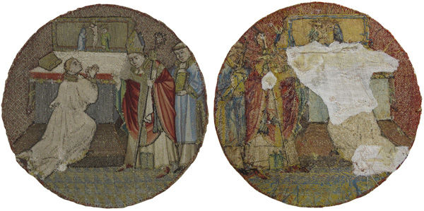 Fig. 1. Obverse (left) and reverse (right) of Saint Martin and Saint Hilary (1975.1.1908)