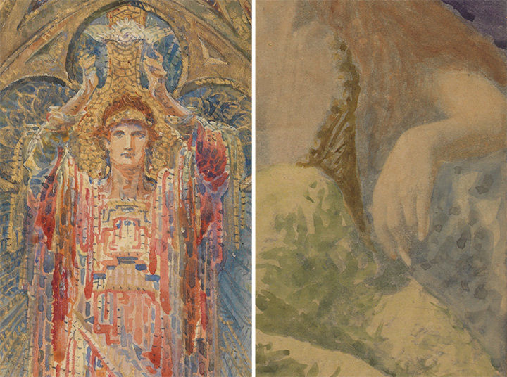 A comparison of two Louis Comfort Tiffany paintings