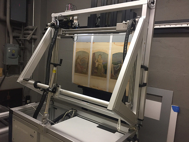 The XRF scanning setup at The Met