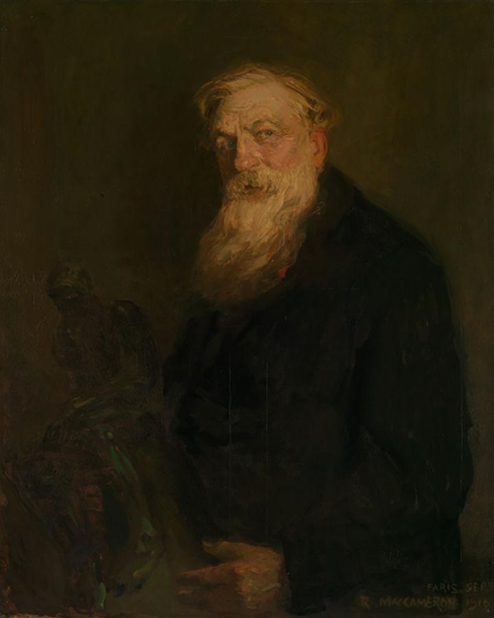 Robert MacCameron portrait of Auguste Rodin