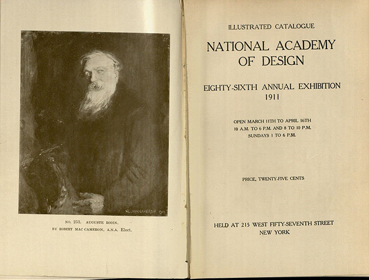 Frontispiece of catalogue for National Academy of Design: Eighty-Sixth Annual Exhibition