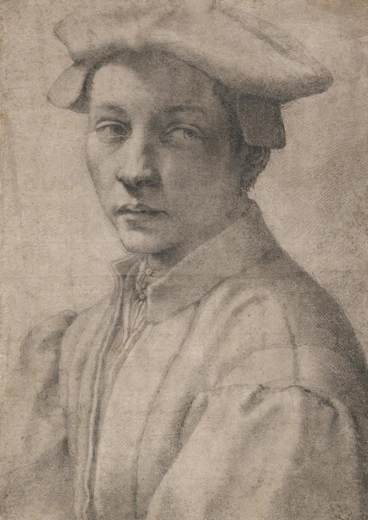 A drawing by Michelangelo of Andrea Quaratesi