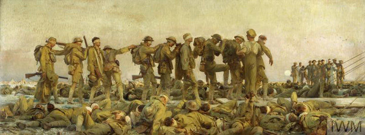 John Singer Sargent's 'Gassed,' depicting a group of World War I soldiers en route to receiving medical attention after an attack