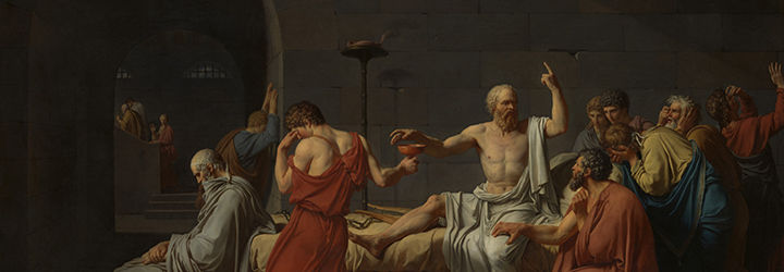 A detail of Jacques-Louis David's Death of Socrates