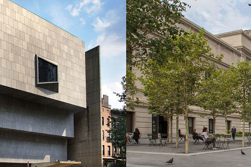 The Met Breuer (left), The Met Fifth Avenue (right)