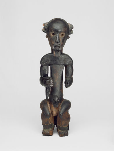 Figure from a Reliquary Ensemble: Seated Male Holding Horn