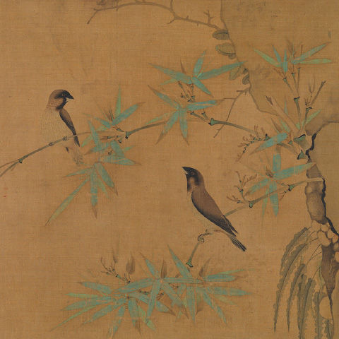 Finches and Bamboo (detail)
