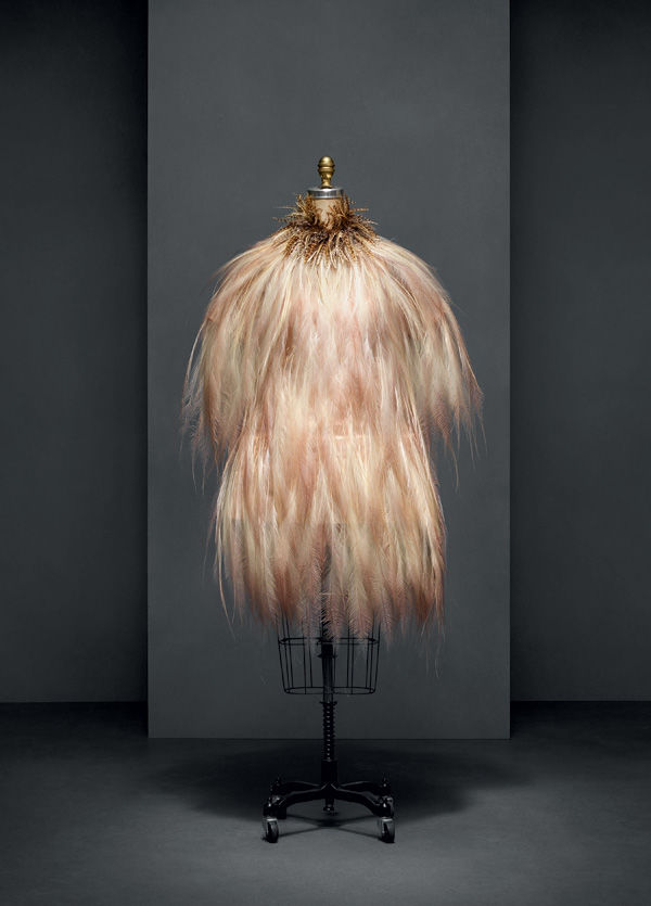 Yves Saint Laurent's 1969 Feather Dress On Display At Met's Costume Institute