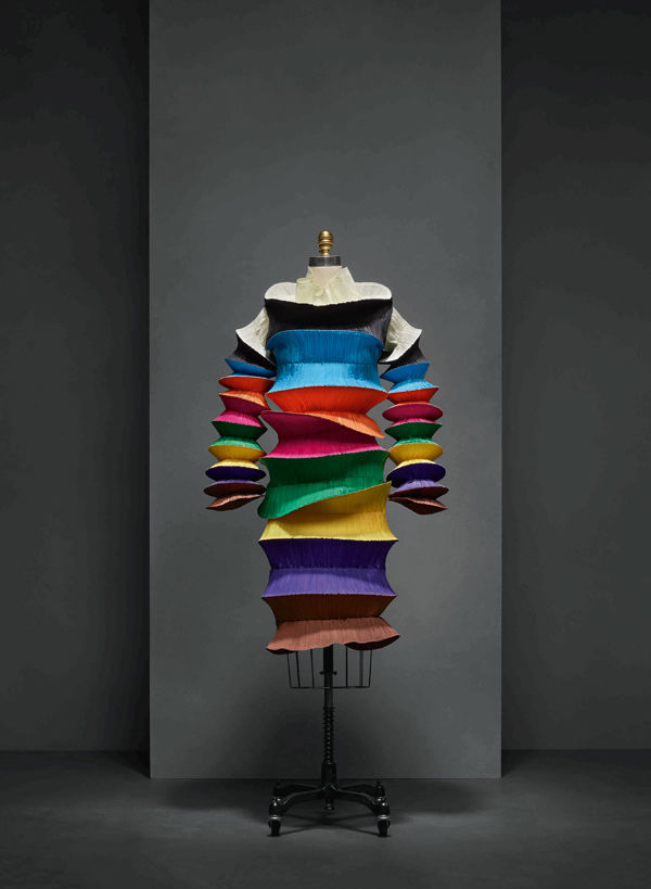 Issey Miyaki Flying Saucer Dress On Display At Met's Costume Institute
