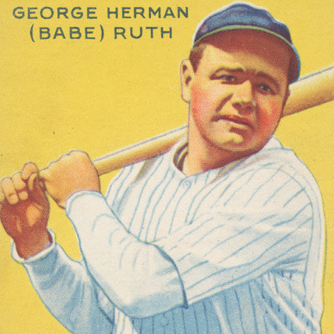 George Herman (Babe) Ruth, New York Yankees, from the Goudey Gum Company's Big League Chewing Gum series (R319), 1933