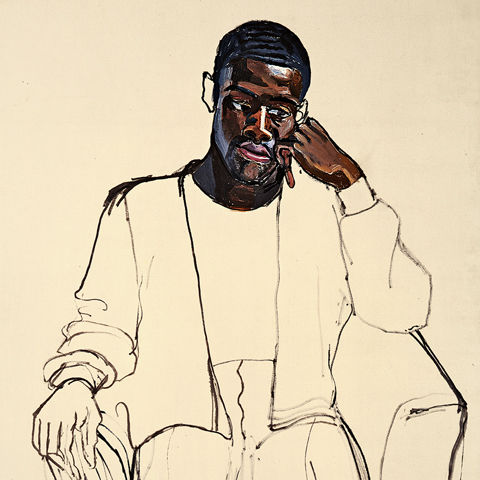 Alice Neel (American, 1900–1984). James Hunter Black Draftee (detail), 1965