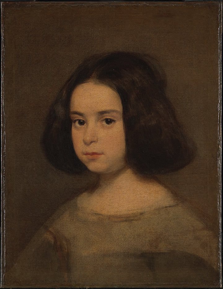 A Velázquez portrait of a young girl, before conservation treatment