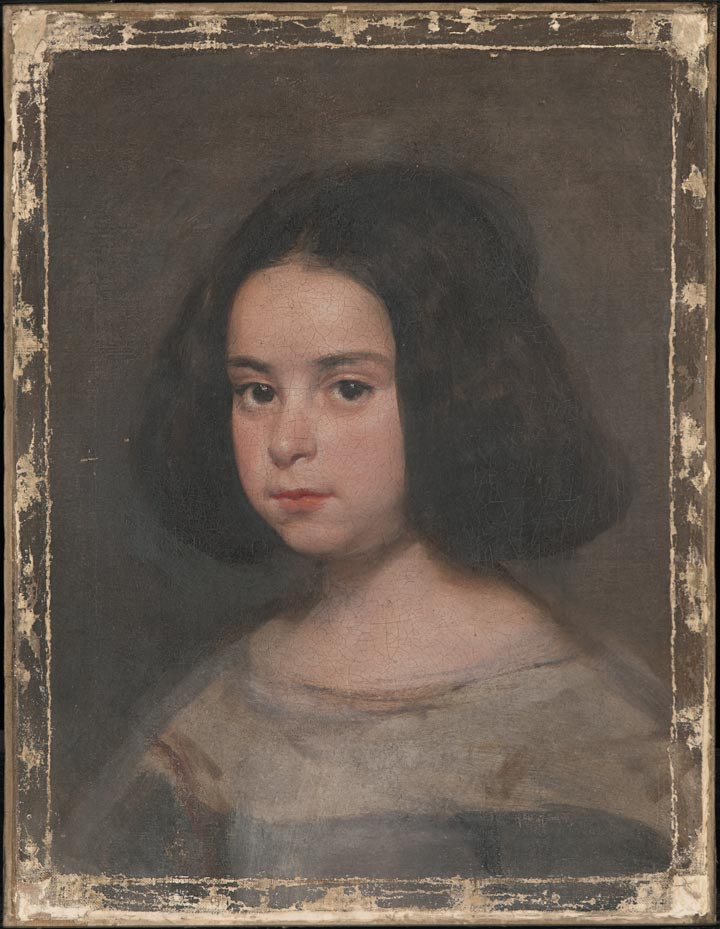 A Velázquez portrait of a young girl, after the removal of varnish and overpaint