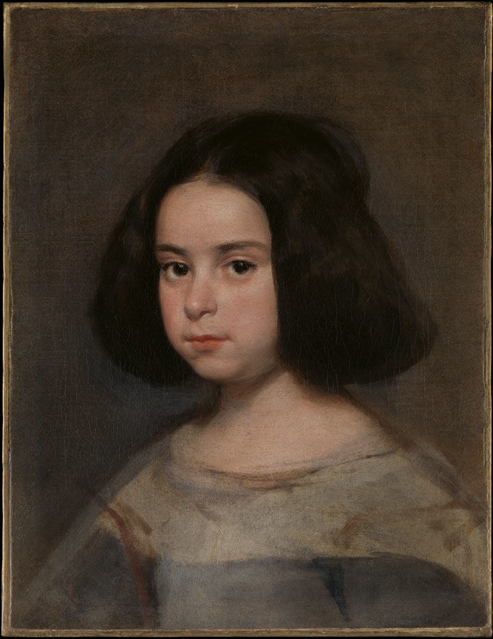 A Velázquez portrait of a young girl, after conservation treatment