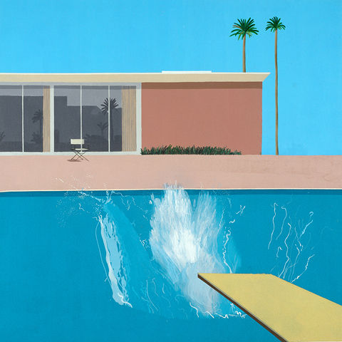 "Detail view of David Hockney's ""A Bigger Splash"""
