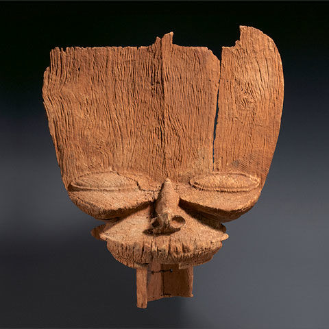 View of an 18th-century crest mask (tsesah) from Cameroon