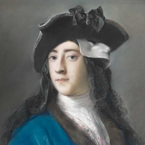 Pastel portrait by Rosalba Carriera of Gustavus Hamilton in masquerade costume