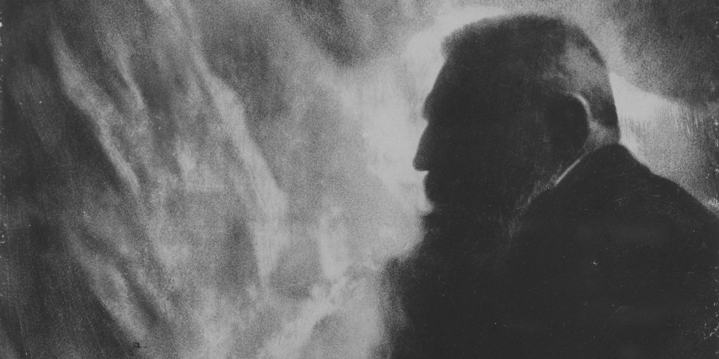 A photograph of Auguste Rodin by Edward Steichen