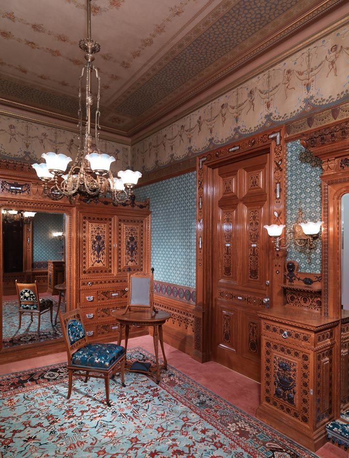 View of a Gilded Age period room