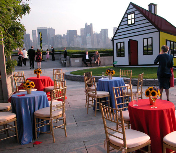 View of Roof Garden with tables