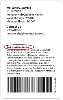 metropolitan reciprocal membership program