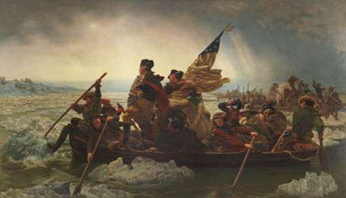 Emanuel Leutze (American, 1816–1868). Washington Crossing the Delaware 1851. Oil on canvas; 149 x 255 in. (378.5 x 647.7 cm). The Metropolitan Museum of Art, New York, Gift of John Stewart Kennedy, 1897 (97.34)