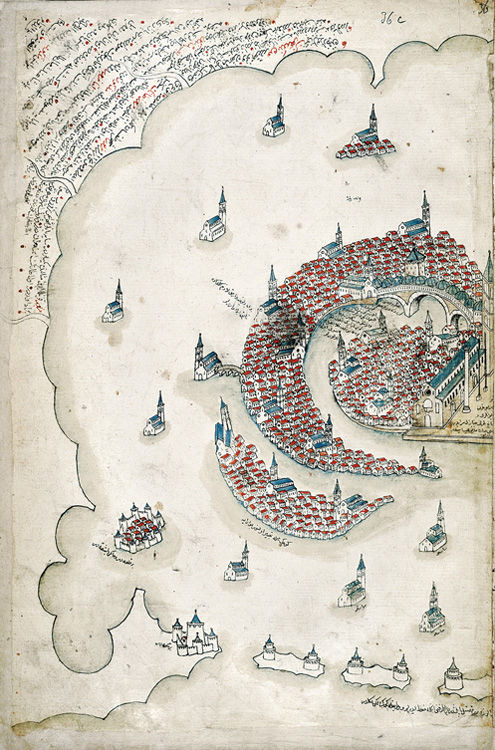 Venice as rendered by Ottoman admiral and cartographer Piri Reis in the early sixteenth century
