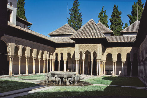 View of the Court of the Lions, Alhambra