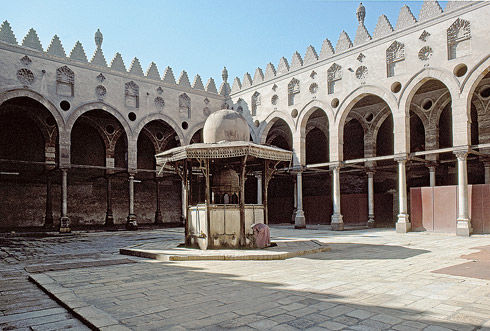 The Mamluk Al-Azhar Mosque of Altinbugha al-Maridani, Cairo, Egypt
