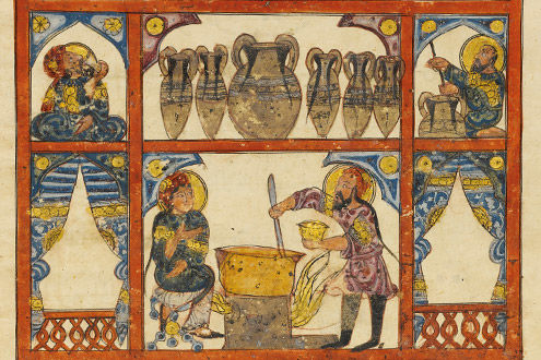 Preparing Medicine from Honey: Folio from a dispersed manuscript of an Arabic translation of the Materia Medica of Dioscorides
