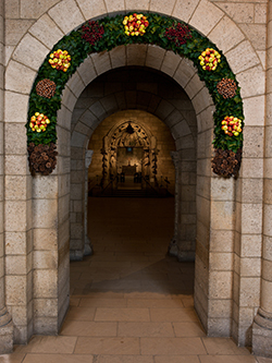 Image result for the cloisters christmas decorations
