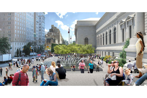 Plaza Renovation Rendering