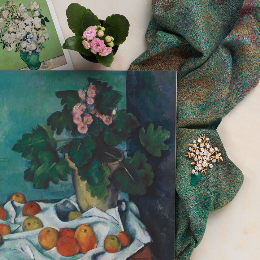 Scarves and other items inspired by French Impressionism