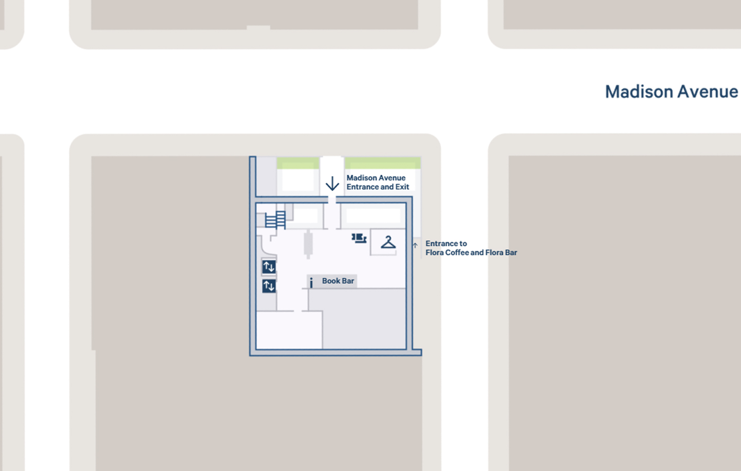 Screenshot of The Met Breuer interactive map