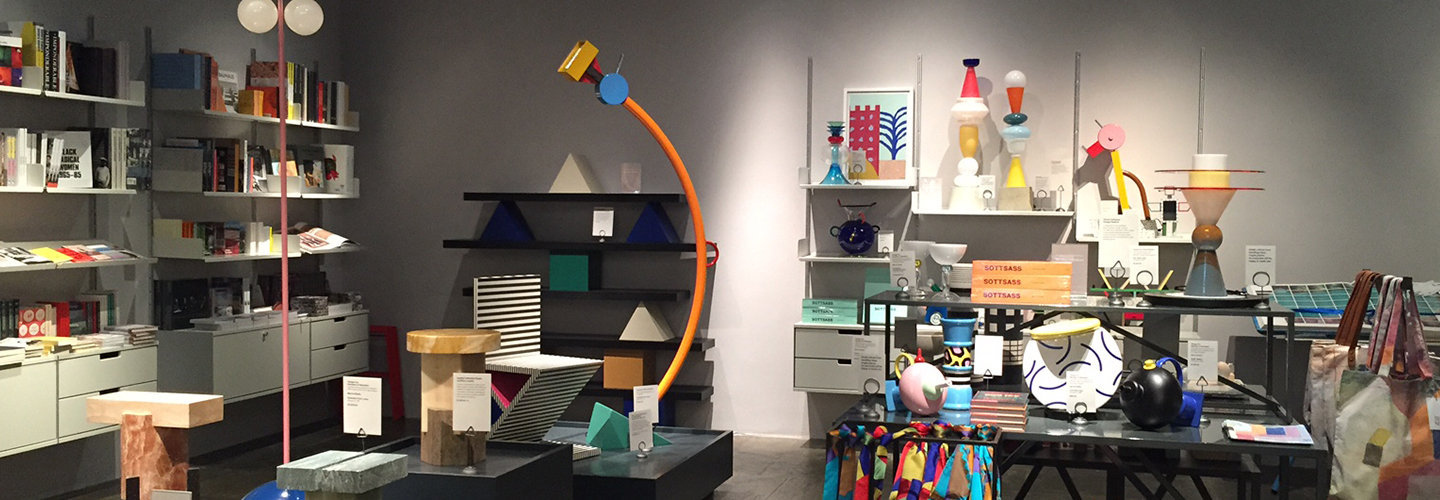 View of The Met Store and The Met Breuer showing a selection of items inspired by contemporary designers