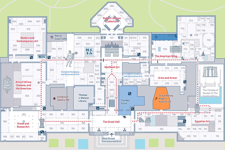 museum map. visit  the metropolitan museum of art