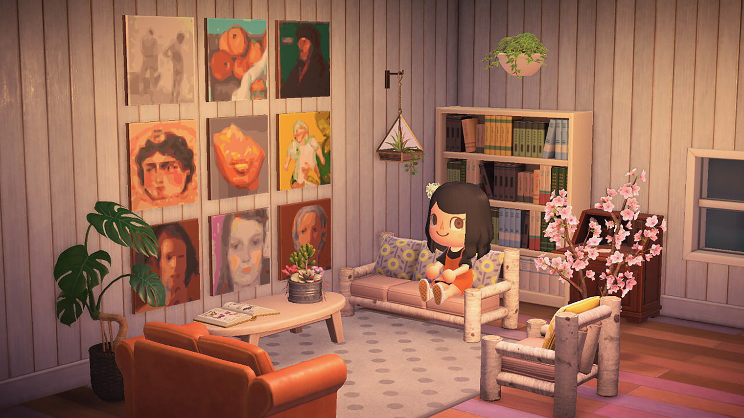 Own a Van Gogh … in Animal Crossing, with The Met's New ... on New Horizons Living Room  id=20306