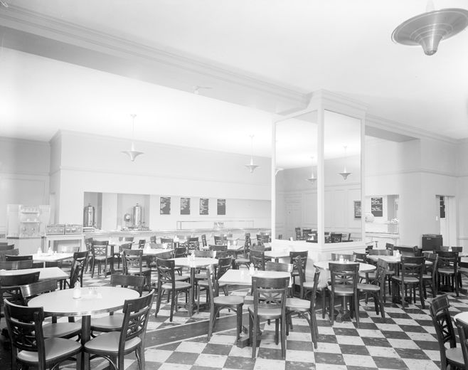 The Metropolitan Museum Of Art Restaurant For Members And Staff Looking Southeast 1941