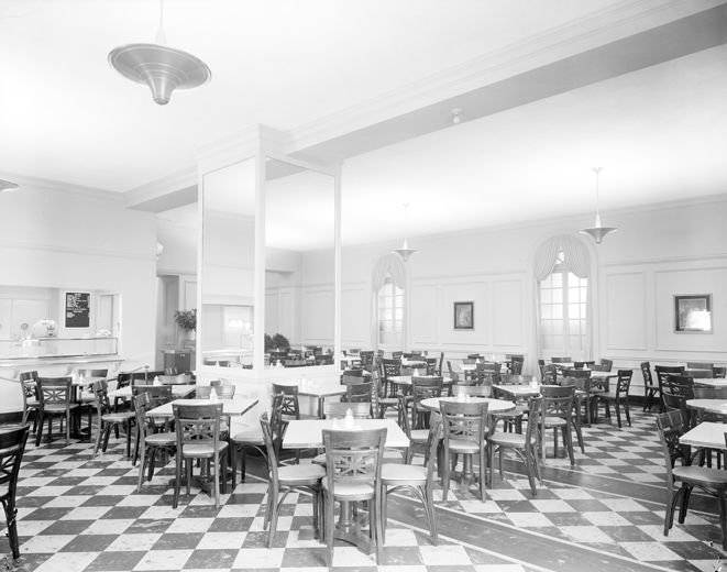 The Metropolitan Museum Of Art Restaurant For Members And Staff Looking Southwest 1941