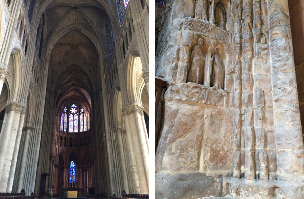 Right: Reims Cathedral, Interior Of West Facade, Showing Fire Damage From  World War I. All Photographs Courtesy Of The Author