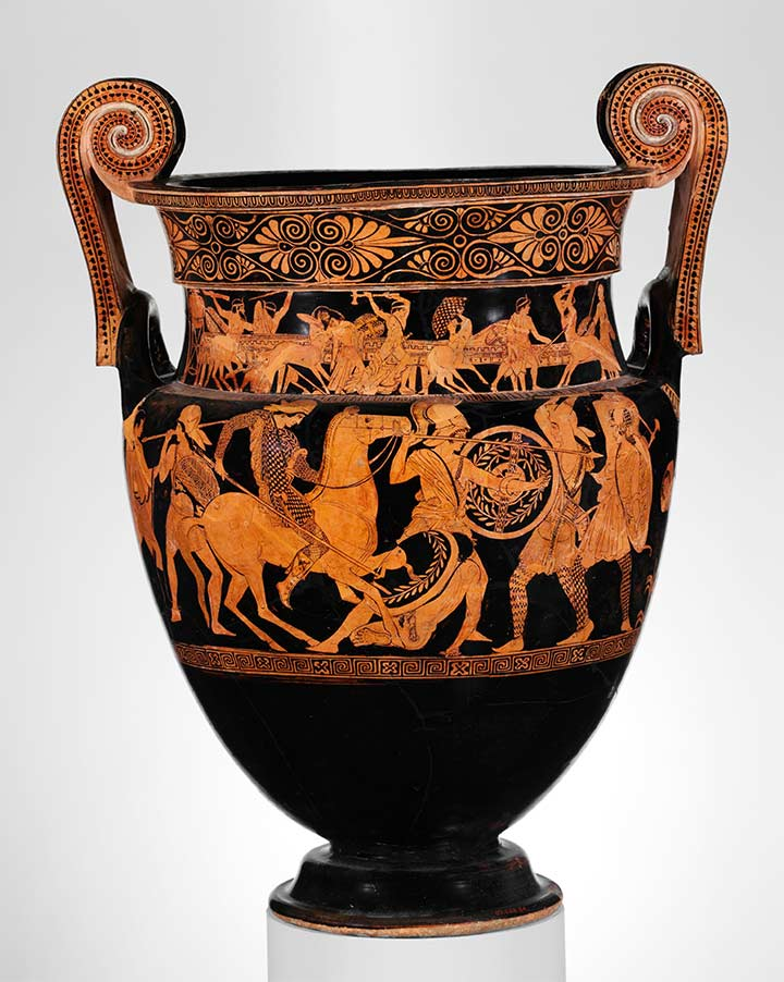 Storytelling And Ceramics Greeks Vs Amazons The Metropolitan