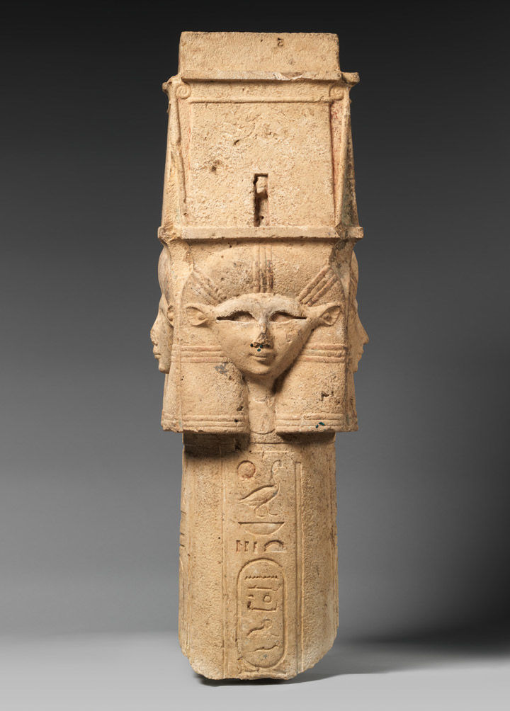 Petrified Sound And Digital Color A Hathor Column In The