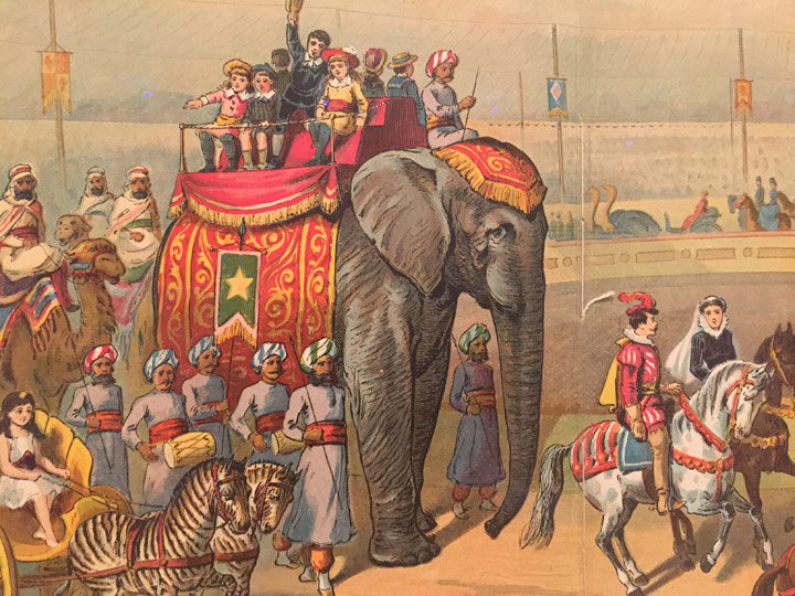 A Peep At The Circus 1887 Published By McLoughlin Brothers New York NY Illustrations Color Lithography 12 X 10 1 4 In 305 254 06 Cm