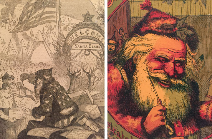 Santa Claus In Camp From Harpers Weekly Detail January 3 1863 Wood Engraving Sheet 14 4 X 10 9 16 374 268 Cm