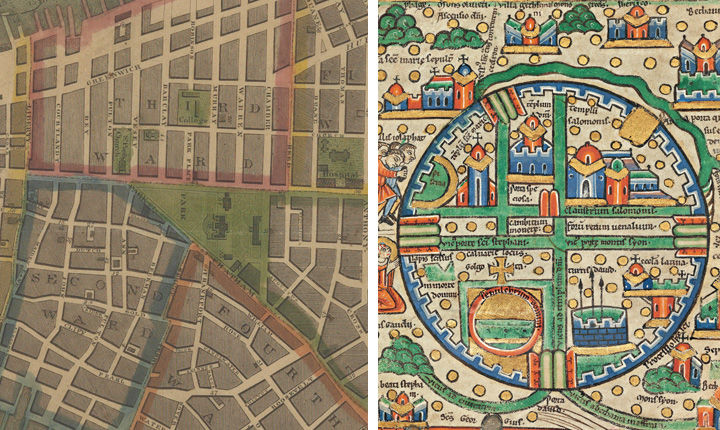 Mapping the medieval cityjerusalem 10001400 every people under left a 17th century map of downtown new york city james deforest stout american 17831868 the city of new york longworths explanatory map and plan gumiabroncs Image collections